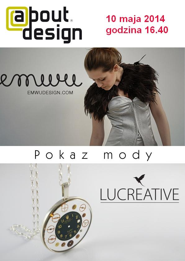 plakat_About_Design_pokaz_mody ok godzina